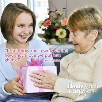 It isn't how much we give, but how much love we put into giving.